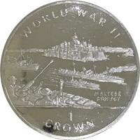 Набор монет Гибралтар, 1 крона, 1994 год, II Мировая Война