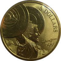 """Олимпийские игры в Сиднее, Австралия. 5 долларов, 2000г - """"Гиревой спорт"""""""