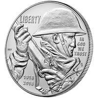 Первая мировая война - США, серебро, 2018 год, UNC