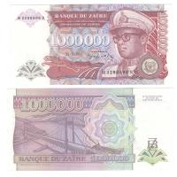 Заир | 1000000 заире | 1992 год