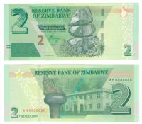 Зимбабве | 2 доллара | 2019 год