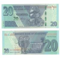 Зимбабве | 20 долларов | 2020 год